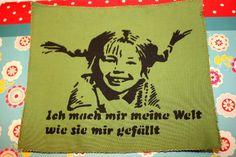Siebdruck Patch - meine Welt von Milla Augenstein auf DaWanda.com