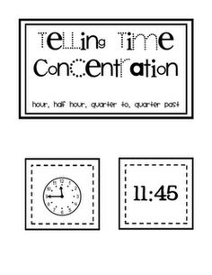 Telling time flash cards and other measurement activities ( I know this is NOT kindergarten... but great math pin)