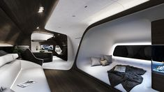 Mercedes and Lufthansa Create Luxury Private Jet interiors