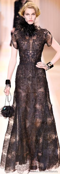 Cate Blanchet's Dress at The Golden Globes (worn without the feather neck piece) Armani Privé Haute Couture | F/W 2013