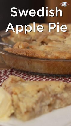 This is the easiest Swedish apple pie you will ever make. Great if you have extra apples and want to use them up quickly. Fall Dessert Recipes, Fall Desserts, Thanksgiving Recipes, Apple Pie Recipes, Apple Desserts, Swedish Apple Pie, Pumpkin Spice, Tasty, Cheese Cakes