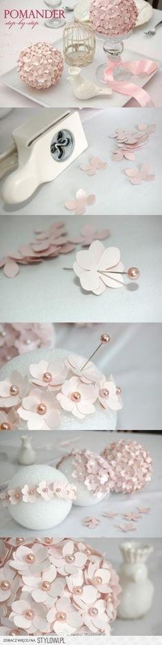 boule de fleurs de perforeuse