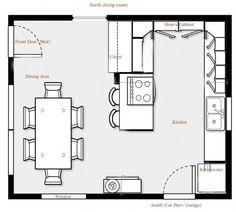 Cocinas pequeñas con planos | diseño de casas, dibujos | Pinterest ...
