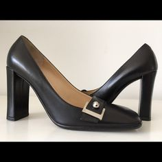 """LOUIS VUITTON BLACK HIGH HEEL PUMP, SIZE 36.5 LOUIS VUITTON BLACK HIGH HEEL PUMP, SIZE 36.5, MADE IN ITALY, COVERED HEIGHT HEEL 3.5"""", (THESE ARE STORE DISPLAY SHOES WHICH HAVE ONLY BEEN TRIED ON IN STORE), BRAND NEW WITHOUT BOX Louis Vuitton Shoes Heels"""