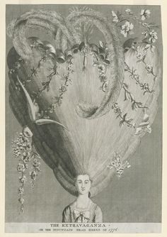 THE EXTRAVAGANZA ./ OR THE MOUNTAIN HEAD DRESS OF 1776. Winterthur 1959.0098.025