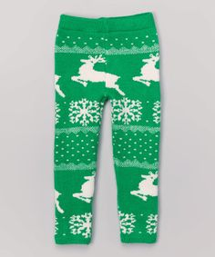 This Green Norfolk Knit Leggings - Infant & Toddler by Maria Elena is perfect! #zulilyfinds