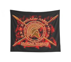 'Spartan warrior - Molon lave and come back with your shield or on it!' Tapestry by augustinet Warrior Outfit, Spartan Warrior, Stargazing, Medium Art, Tapestries, Wall Tapestry, Comebacks, Duvet Covers, Shops