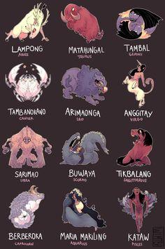 Filipino Art, Filipino Tribal, Filipino Culture, Traditional Filipino Tattoo, Filipino Words, Samoan Tribal, Filipino Tattoos, Mythical Creatures List, Mythological Creatures