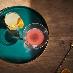 We don't know what looks better, these drinks or the glasses they're in...
