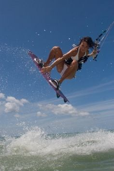 """A bit of  this """"Kite surfing"""" and a bit of that """"Kite boarding"""". Living life to the max . http://on.fb.me/1grrBCt"""