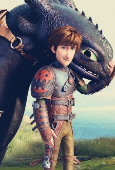 Hiccup and Toothless, nothing better than super-hot-viking and super-cute-dragon Toothless And Stitch, Toothless Dragon, Hiccup And Toothless, Dreamworks Dragons, Dreamworks Animation, Disney And Dreamworks, Dragons 3, Cute Dragons, How To Train Dragon
