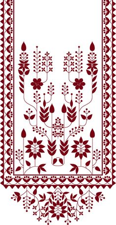 Discover recipes, home ideas, style inspiration and other ideas to try. Motif Design, Textile Design, Pattern Design, Print Design, Border Embroidery Designs, Hand Embroidery Patterns, Cutwork Embroidery, Embroidery Works, Textile Prints
