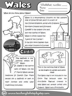 Wales - Worksheet (B&W version)