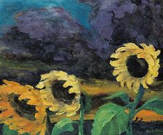 Emil Nolde, Sunflowers in the Windstorm (1943)