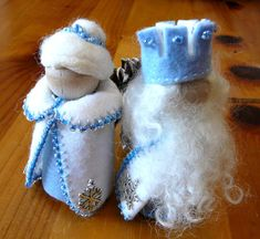 King & Queen Winter Peg Doll Couple Large Waldorf by BRIDGITSBELL