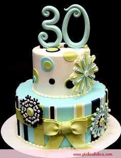 30th Birthday Snowflake Cake by Pink Cake Box in Denville, NJ.  More photos and videos at http://blog.pinkcakebox.com/30th-birthday-snowflake-cake-2010-12-13.htm