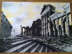 Ruins drawing
