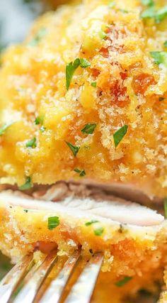 Oven Fried Chicken with Honey Mustard Glaze