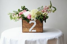 With just a minimal amount of elbow grease, you can turn old wooden boxes into rustic, one-of-a-kind centerpieces that will add a ton of charm to your tables!