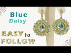How to make earrings using 14 mm, 12 mm or 10 mm rivolis - YouTube