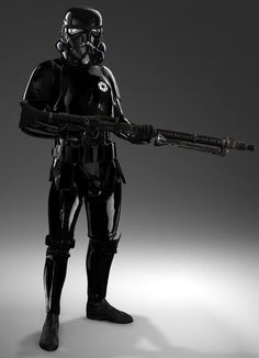 Shadow Troopers Other information Shadow Troopers were a variant of the Galactic Empire's stormtrooper. They wore a black suit of armor equipped with a cloaking device, and wielded a T-21 light repeating blaster.