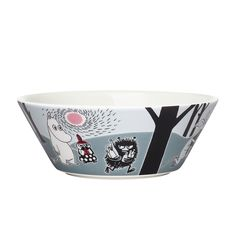 Moomin Adventure move bowl by Arabia - The Official Moomin Shop - 1 Les Moomins, Smoking Bowls, Tove Jansson, Welcome Gifts, Kitchen Collection, Dear Santa, Decorative Bowls, Pottery, Bowls