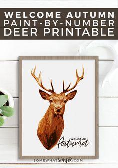"Say ""Goodbye Summer"" and ""Hello Fall"" with a fabulous Deer Prints Printable."