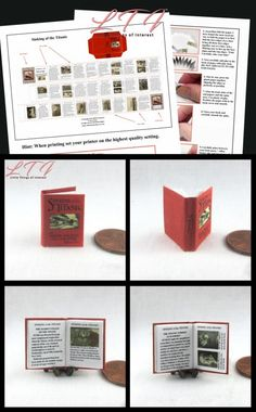 SHIPWRECKED BOOK SET OF 3 Miniature Dollhouse 1:12 Scale Illustrated Readable