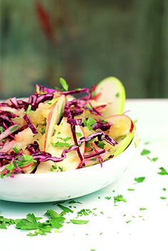 Ingrid�s Red cabbage and apple slaw  ~~  pinned for Apple Dressing recipe