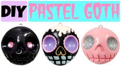 Pastel Goth: 10 DIY Ways to Get the Look.   How to Make EASY Skull   Pastel Goth Polymer Clay Charms  