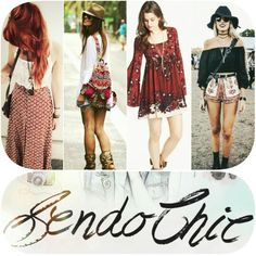 """Um dos estilos que marcou a década de 70 é o """"Folk"""". Agora juntem o hippie, étnico, boêmico, vintage e teremos o estilo Boho! Para saber mais acesse www.sendochic.com"""