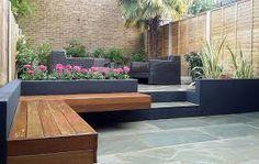 Brick and modern landscape design - modern garden design london natural sandstone paving patio brick and Garden Design London, London Garden, Modern Garden Design, Patio Design, Landscape Design, Modern Design, Backyard Layout, Backyard Landscaping, Backyard Ideas