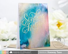 Sending Hugs with Keeway Copic Marker Refills, Copic Markers, Sending Hugs, Mama Elephant, Elephant Design, Alcohol Ink Art, I Card, Christmas Cards, Card Making