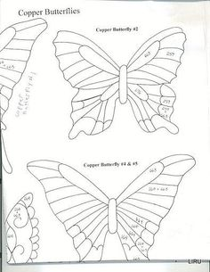 copper butterfly template