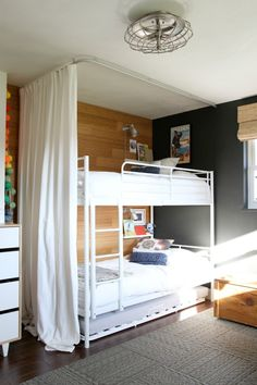 Awesome idea for kids room - fort-like but also keeps the light out for longer naps!