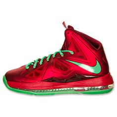 Men's Nike LeBron X Basketball Shoes - 541100 600 | Finish Line | University Red/Green/Team Red