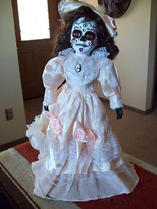 Day of The Dead Catrina Doll Calavera Dia de Los Muertos Folk Art | eBay