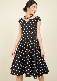The East Coast Swing of Things Cotton Dress. Two steps to the left, two steps to the right, then rock step and twirl this cotton dress with delight! #black #modcloth