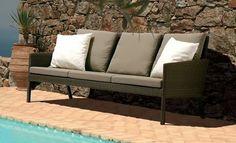 dbc9af1a7dd Nevada Deep Seating Woven Sofa in Cinnamon
