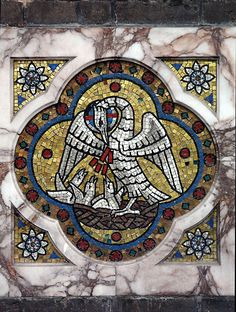 Medieval Pelican. She pecks her own chest and offers blood to her children so that she can revive them