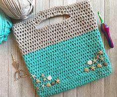 Ravelry: Project Bag pattern by Crochet Shell Stitch, Crochet Hook Set, Love Crochet, Beautiful Crochet, Crochet Stitches, Crochet Handbags, Crochet Purses, Crochet Bags, Quick Crochet Patterns