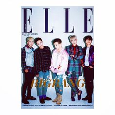 BIGBANG on ELLE magazine cover shoot Just out now✔️