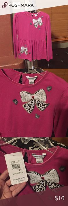 NWT Heartstrings Knit Tunic Cute as can be! Brand new! The detail on the bows is beautiful. Pretty pink! Hartstrings Shirts & Tops Blouses
