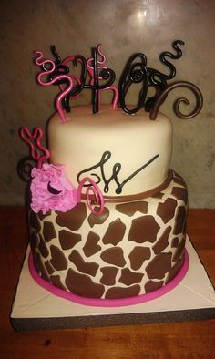 I LOVE LOVE LOVE giraffe print and I hope I can find some way to incorporate it into my candy themed sweet 16. Crossing my fingers that I can find a way to put this in my cake!!!