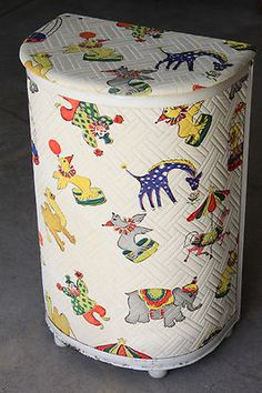 Vintage baby clothes hamper- I am pretty sure we actually had one of these when my sister was a baby.