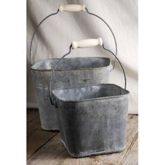 Flower Shop Buckets 6.5 inches & 5 inches (set of two)