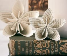 Recyclage et décoration : vive les vieilles pages de livres