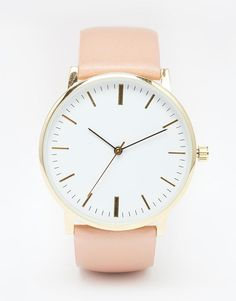 ASOS | ASOS Premium Clean Leather Strap Watch at ASOS