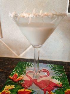 COCONUT CREAM PIE MARTINI * coconut RUM, vanilla VODKA, cream or half ...