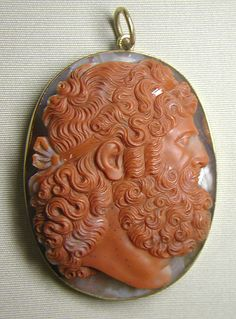 Agate Intaglio, Cameo Head of Jupiter, circa. century or earlier, Italian. Cameo Jewelry, Coral Jewelry, Jewelry Art, Ancient Jewelry, Antique Jewelry, Vintage Jewelry, Art Carved, Silver Work, Jewelery